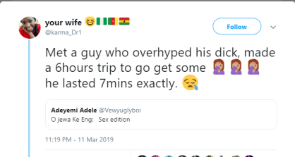 Lady Disappointment After 6-hour Trip For Sex With A Man Who Overhyped His Dick