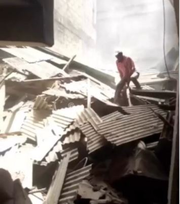 Many Trapped As Another Building Collapses In Lagos Island