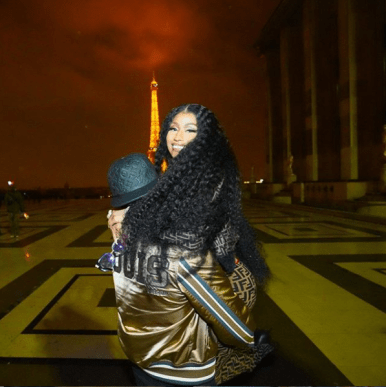 Nicki Minaj Shares Loved-up Photos With Her Man Near Eiffel Tower