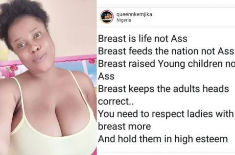 Nigerian Lady List Five Reasons Why 'Breast' Is More Important Than 'Bum Bum'