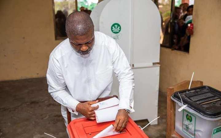 Nsima Ekere Cast His Vote