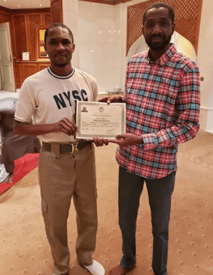 President Buhari's Son Passes Out From NYSC