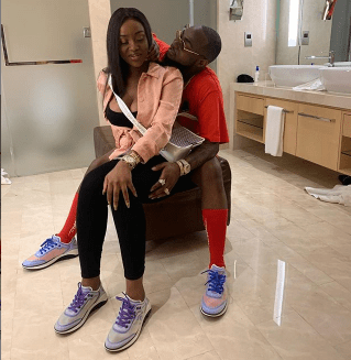 Davido And Chioma Shares Loved Up Photo