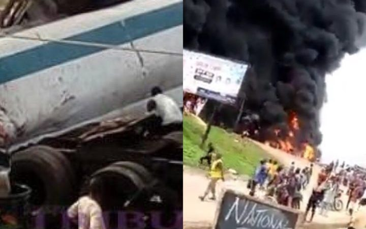 Many Burnt To Death As Petrol Tanker Bursts Into Flames