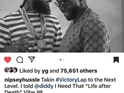 Prophetic Post By Nipsey Hussle As Shared By Diddy