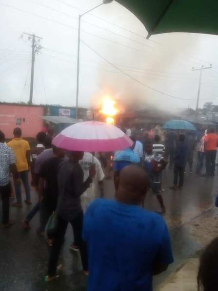 Gas Explosion Rocks A Gas Shop In Calabar