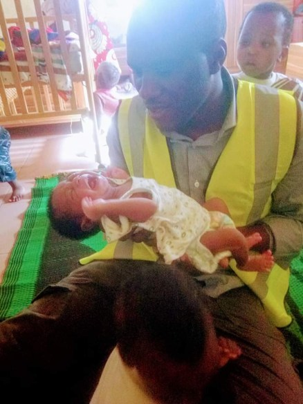 Newborn Baby Left Outside Orphanage Because The Mother Died During Delivery In Abuja