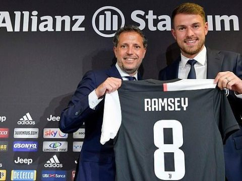 Aaron Ramsey Unveiled As Juventus Player, To Earn £440,000 A Week