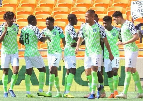 Ahead Of South Africa Match, Super Eagles Players Hit The Beach