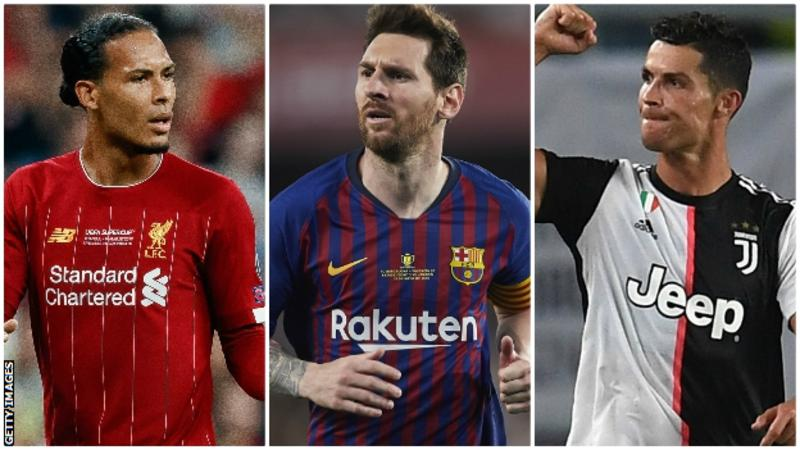 Virgil van Dijk, Lionel Messi and Cristiano Ronaldo – who will be named Europe's best player?