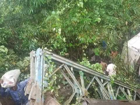 See Photos As Bridge Collapses In Akwa Ibom