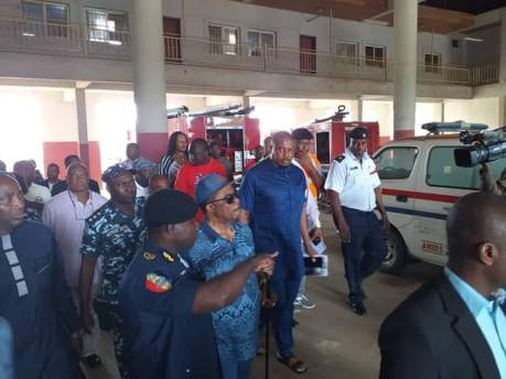 Governor Obiano Visits Anambra State Fire Service Command Over Onitsha Fire