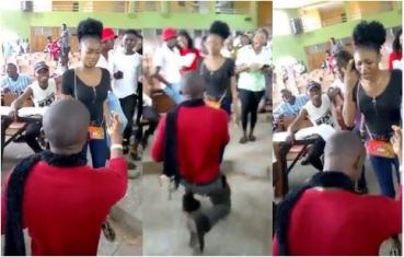 Nigerian University Student Slaps 'Boyfriend' Who Proposed To Her In Lecture Hall