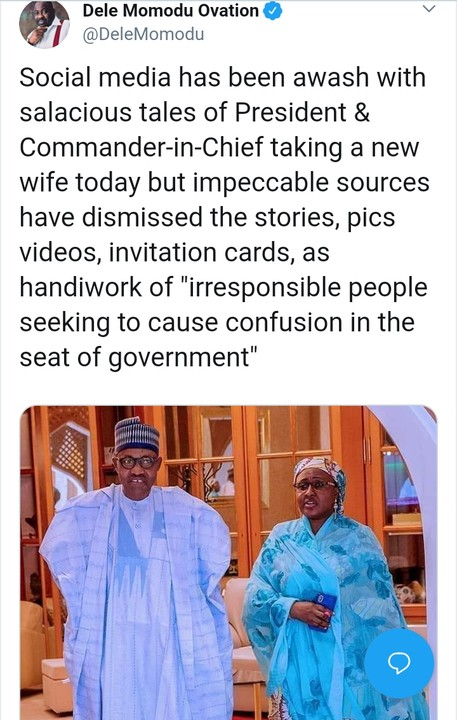 'President Buhari Is Not Getting Married, Pictures, Videos, Invitation Cards Are Fake'- Former Presidential Candidate, Dele Momodu