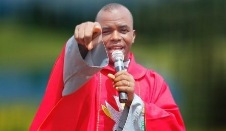 Father Mbaka Storms Imo Governor's Office, Performs Spiritual 'Cleansing'