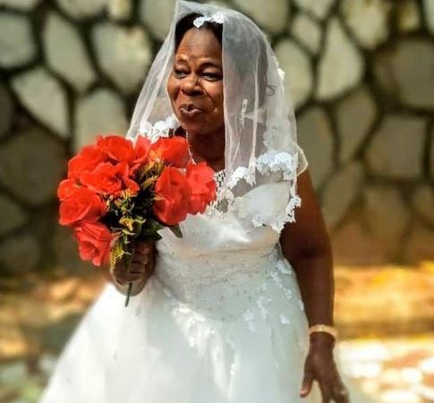 Nigerian Woman In Her 60s Gets Married For The First Time