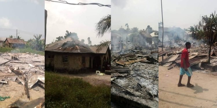 Soldiers Invade & Burn Ijaw Community