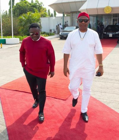 The Moment President Buhari Departed For AU Summit With Govs Ayade And Uzodinma