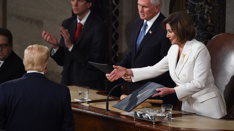 Trump Ignores Pelosi's Handshake During State Of The Union Address