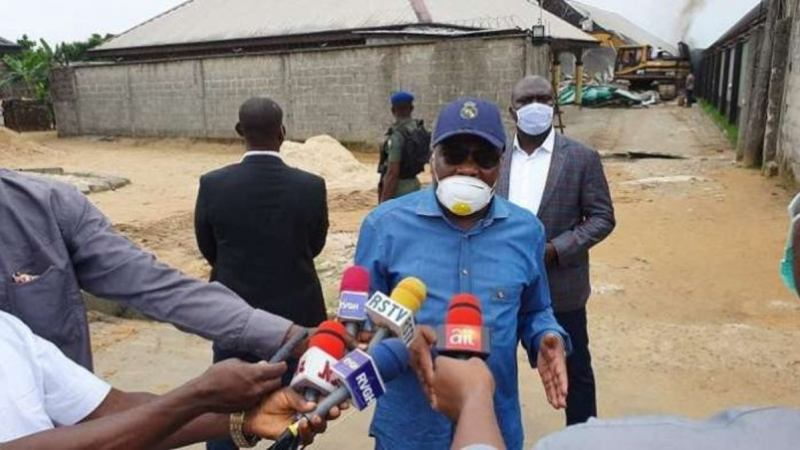Gov Wike Demolishes Two Hotels In Rivers For Flouting Executive Order