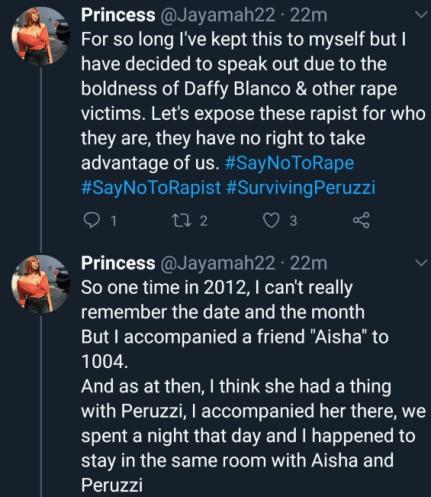 Woman Accuses Peruzzi Of Rape