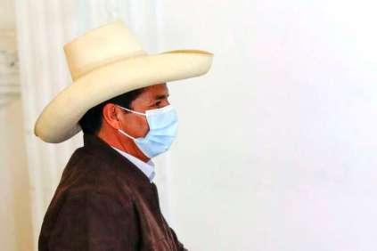 Peru swears in new president Pedro Castillo