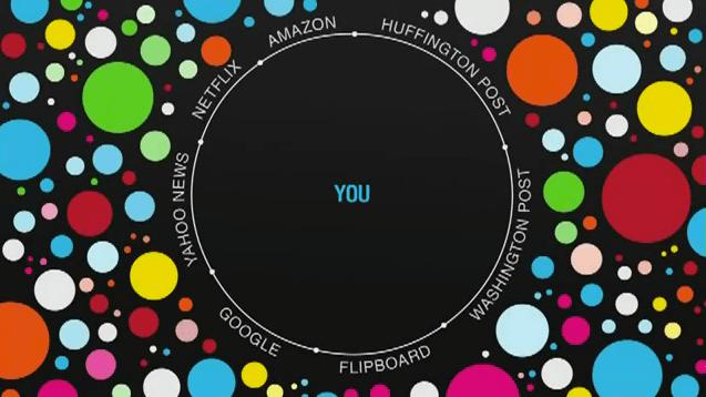 Filter Bubble. Imagen tomada de http://www.brainpickings.org