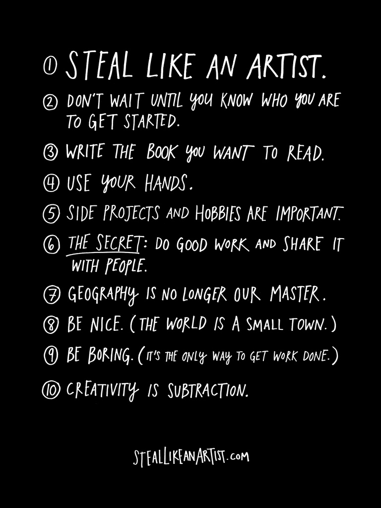 Steal Like an Artist Austin Kleon
