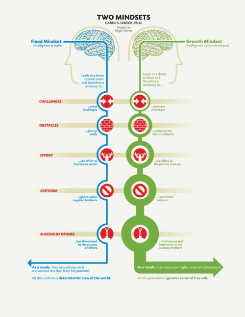fixed vs. growth mindset