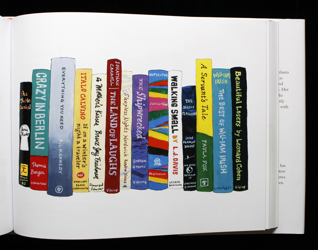 Illustrated Bookshelves Of Famous Artists And Writers Favorite