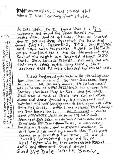 Inside Kurt Cobain's Letters and Journals | Brain Pickings