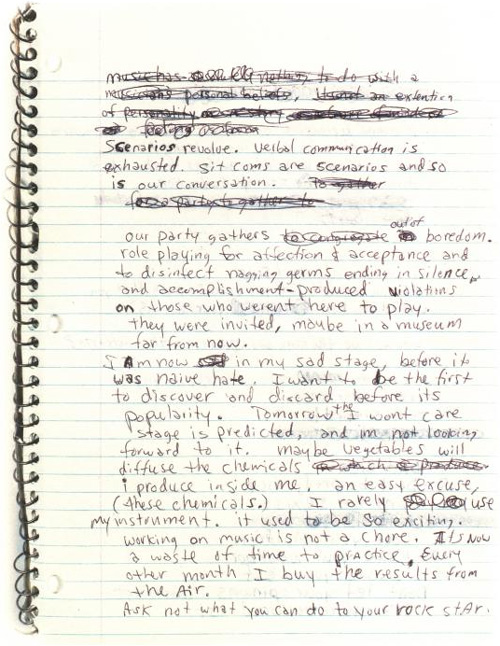 Inside Kurt Cobain's Letters and Journals - Brain Pickings