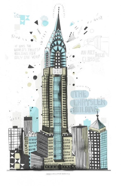 An Illustrated Tour of All the Buildings in New York | Brain