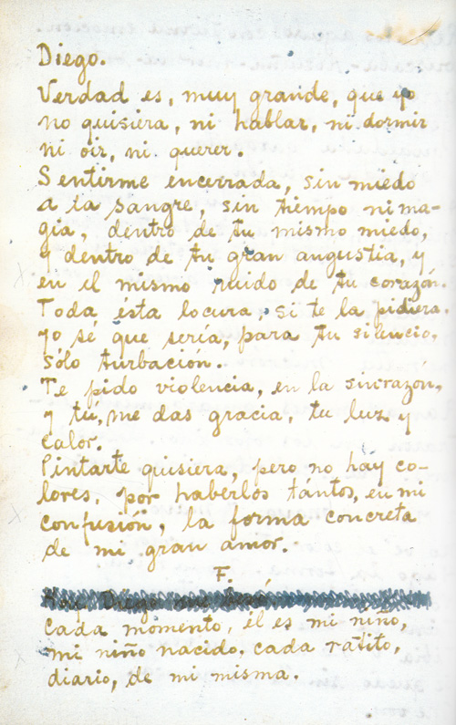 Love letter spanish translation