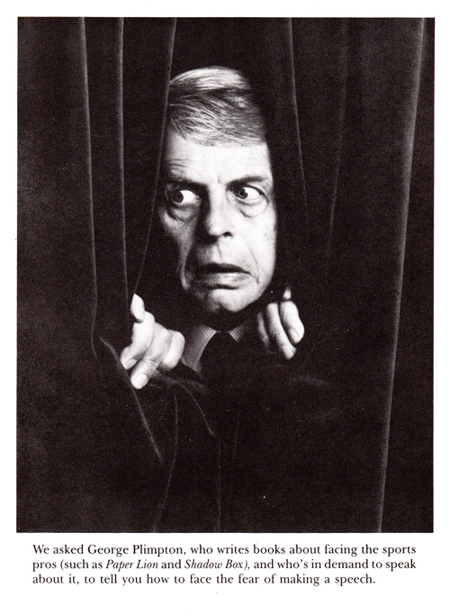 George Plimpton on the Art of Public Speaking and How to Overcome ...