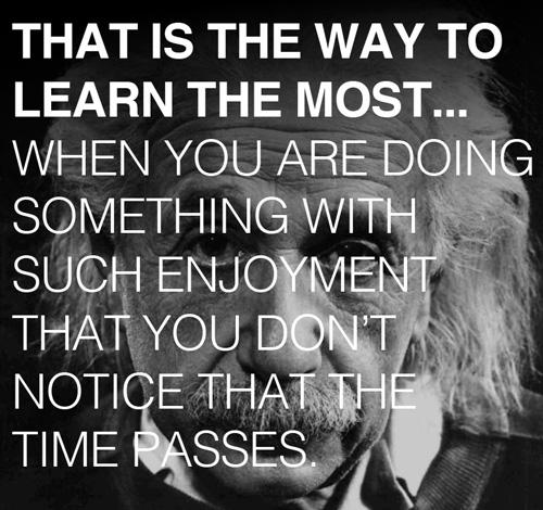 Einstein's secret to learn everything