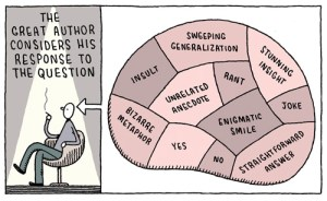 "Tom Gauld's Brilliant Literary Cartoons Blur the Artificial Line Between ""High"" and ""Pop"" Culture"