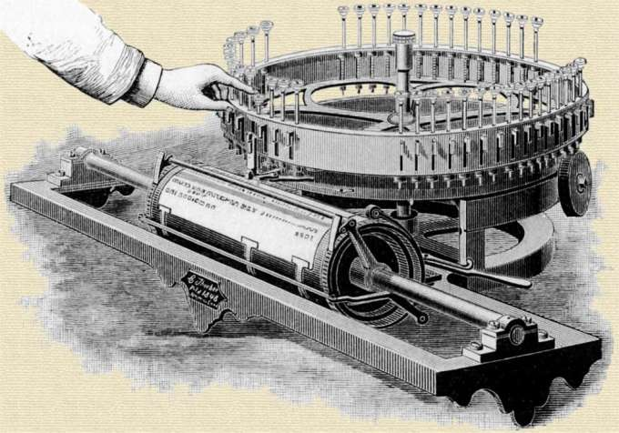 Charles Thurber's typewriter patent, 1843