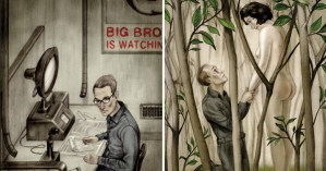 Haunting Illustrations for Orwell's <em>Nineteen Eighty-Four</em>, Introduced by the Courageous Journalist Who Broke the Edward Snowden Story