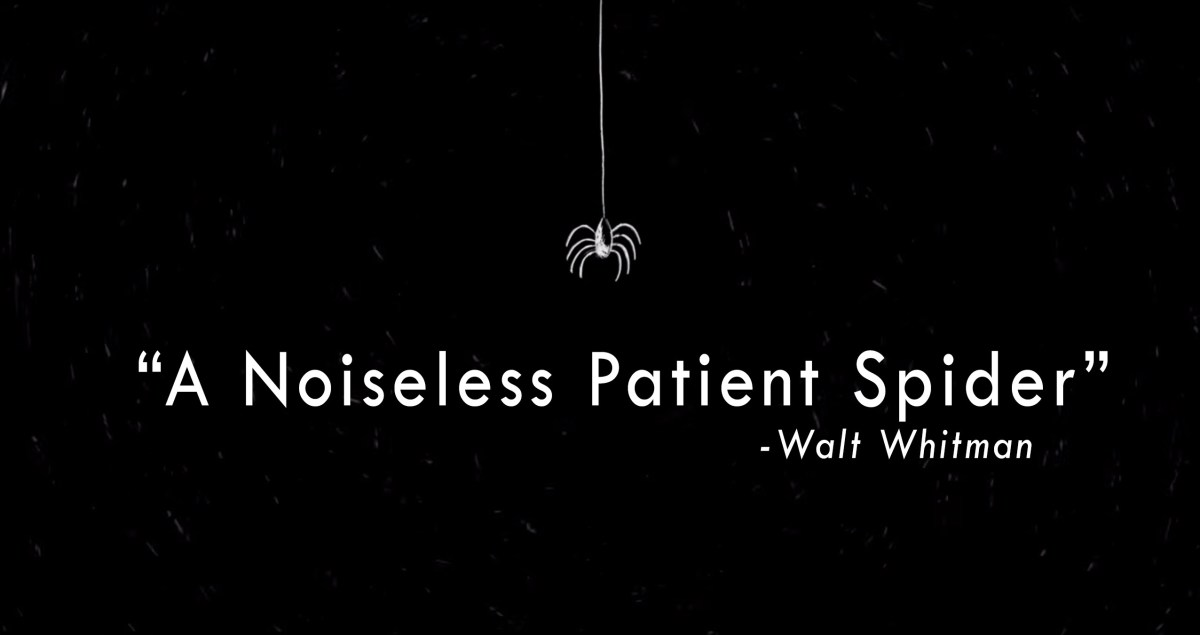 Walt whitmans advice on living a vibrant and rewarding life brain three animators bring to life three beautiful readings of walt whitmans a noiseless patient spider m4hsunfo