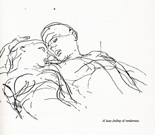 Illustration from 'An ABZ of Love,' Kurt Vonnegut's favorite vintage Danish guide to sexuality. Click image for more.