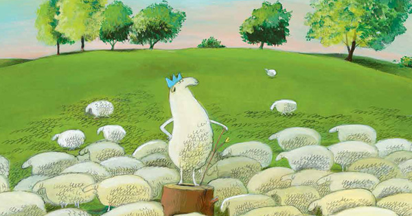 Art by Olivier Tallec from Louis I, King of the Sheep