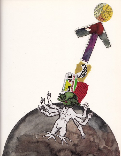 Art from The Three Astronauts, Umberto Eco's vintage semiotic children's book about cross-cultural tolerance