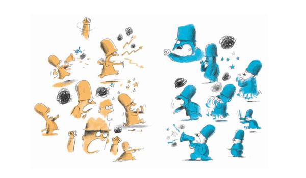 Illustration by Olivier Tallec from Waterloo and Trafalgar