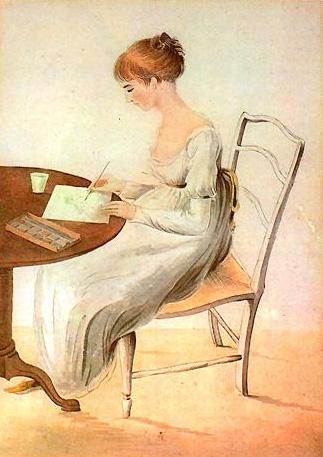 Drawing of Fanny Knight by Austen's watercolorist sister, Cassandra