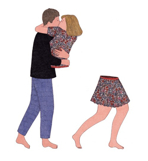 Art from In Pieces by Marion Fayolle , a wordless exploration of human relationships