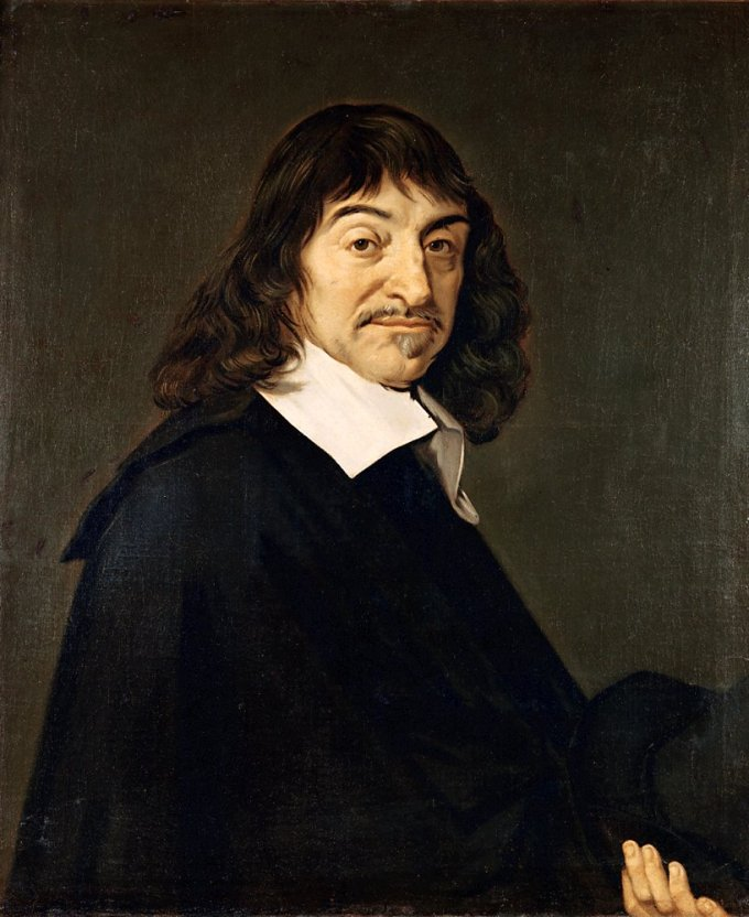 Portrait of Descartes after Frans Hals, 1648