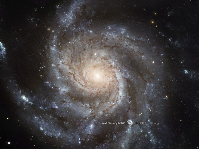 Spiral Galaxy M101 (Image credit: NASA / Hubble Space Telescope)