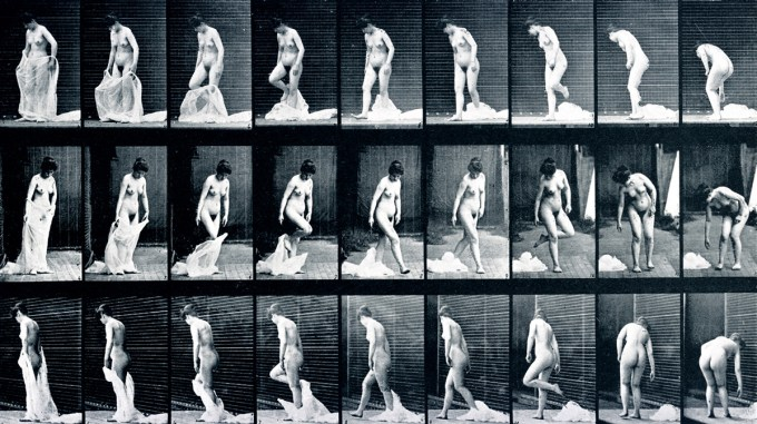 Eadweard Muybridge: Woman removing mantle