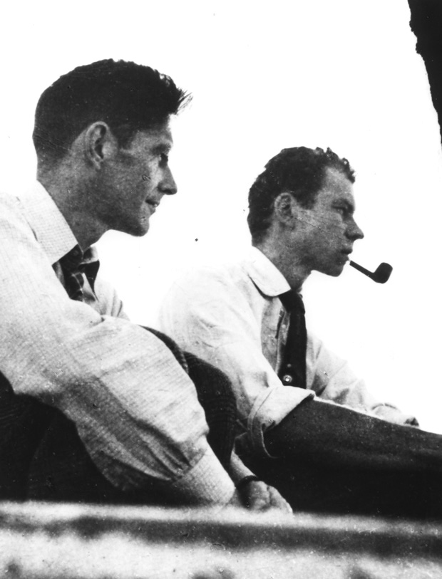 John Cage and Merce Cunningham at Black Mountain College, 1948 (Photograph courtesy of the John Cage Trust)